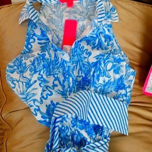 Lilly Pulitzer midi shirt dress